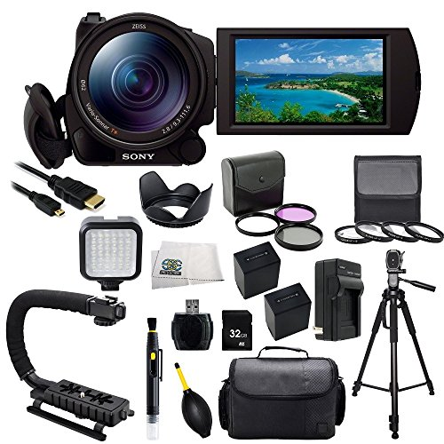 sony fdr ax100 b 4k video camera with 3 5 inch lcd black with sse accessory bundle kit which. Black Bedroom Furniture Sets. Home Design Ideas