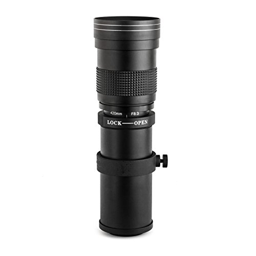Opteka 420-800mm f/8.3 HD Telephoto Zoom Lens for Canon ...